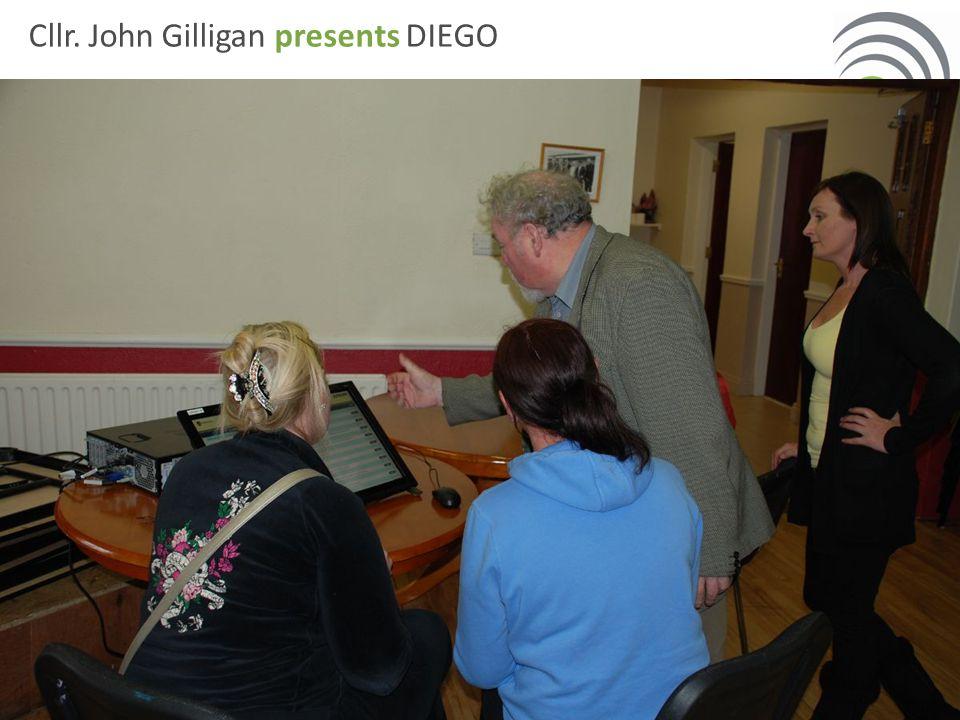 Cllr. John Gilligan presents DIEGO