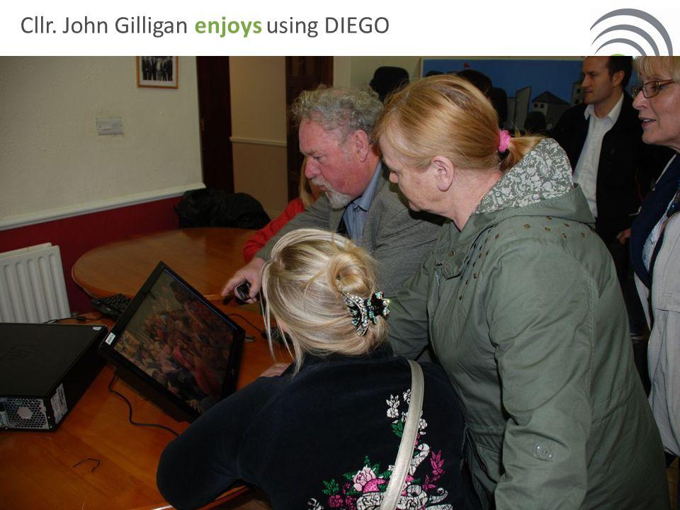 Cllr. John Gilligan enjoys using DIEGO