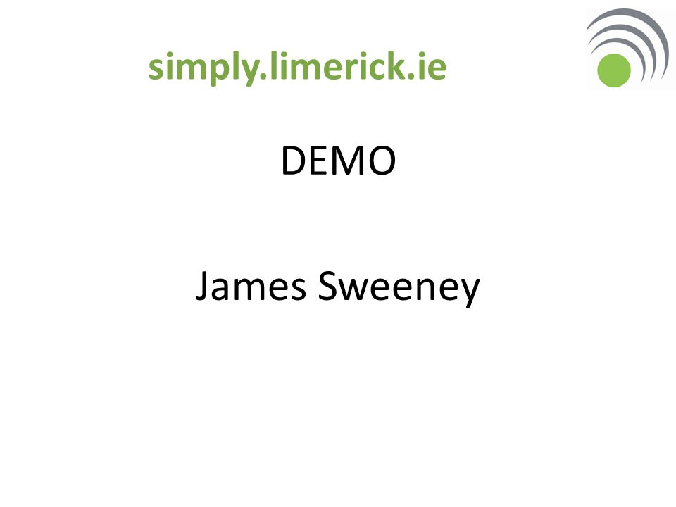 simply.limerick.ie DEMO James Sweeney