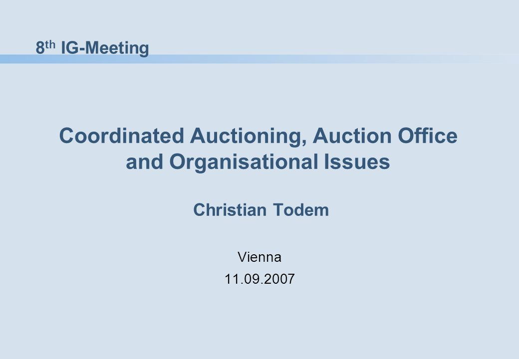 12 Conclusion I/II Statement 2 at last IG meeting: To start with flow-based D (and M) auctions within 2008 is the realistic case.