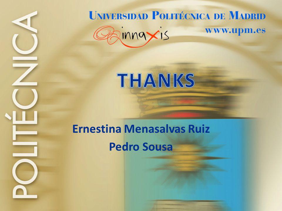 Ernestina Menasalvas Ruiz Pedro Sousa