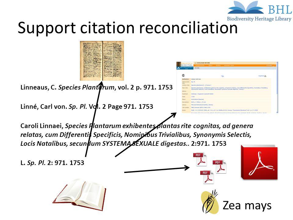 Support citation reconciliation.............. L. Sp.