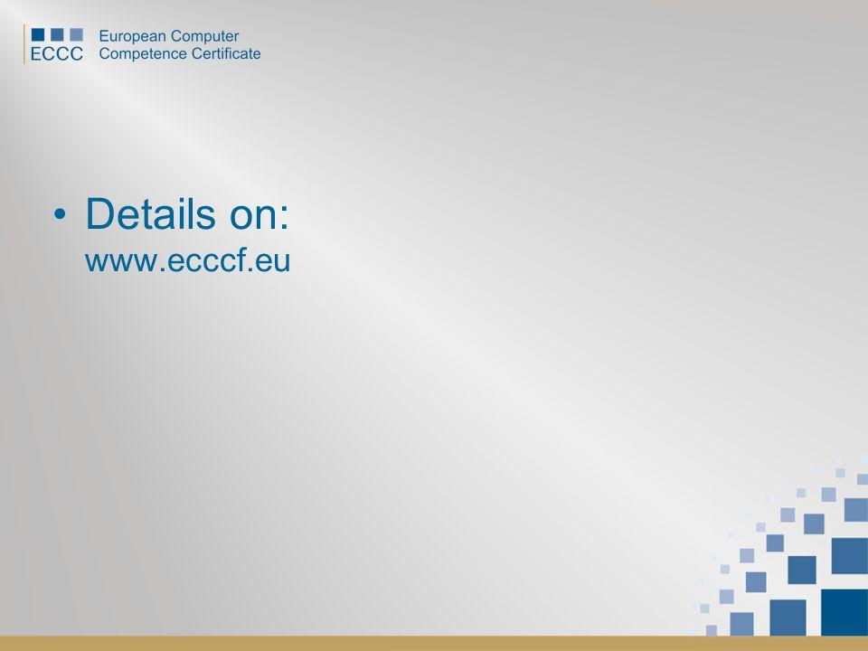Details on: www.ecccf.eu