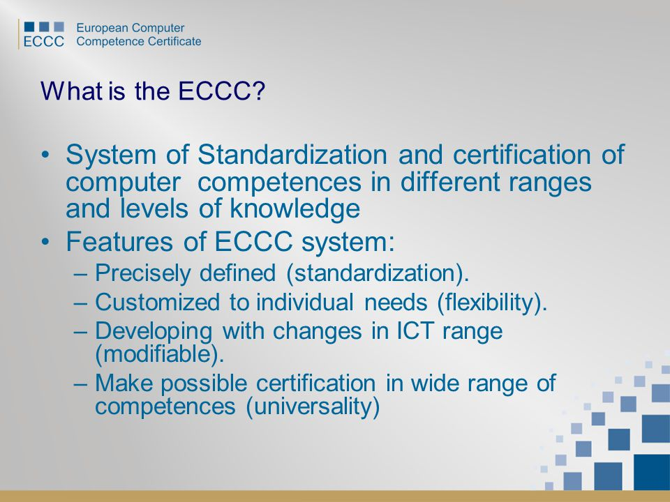 What is the ECCC.
