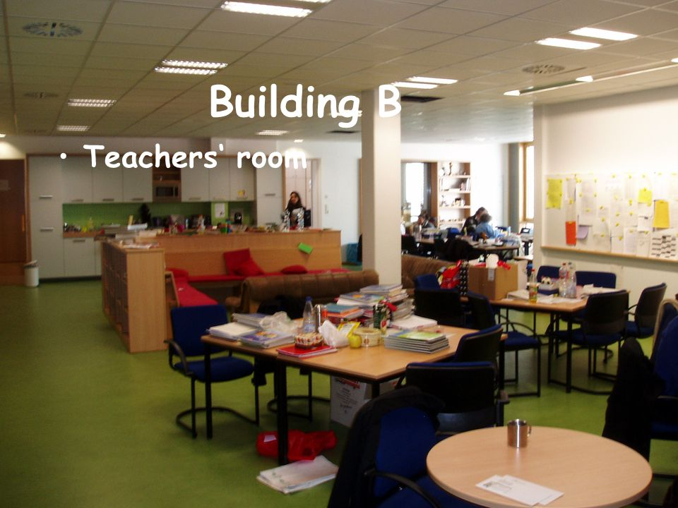 Building B Teachers' room