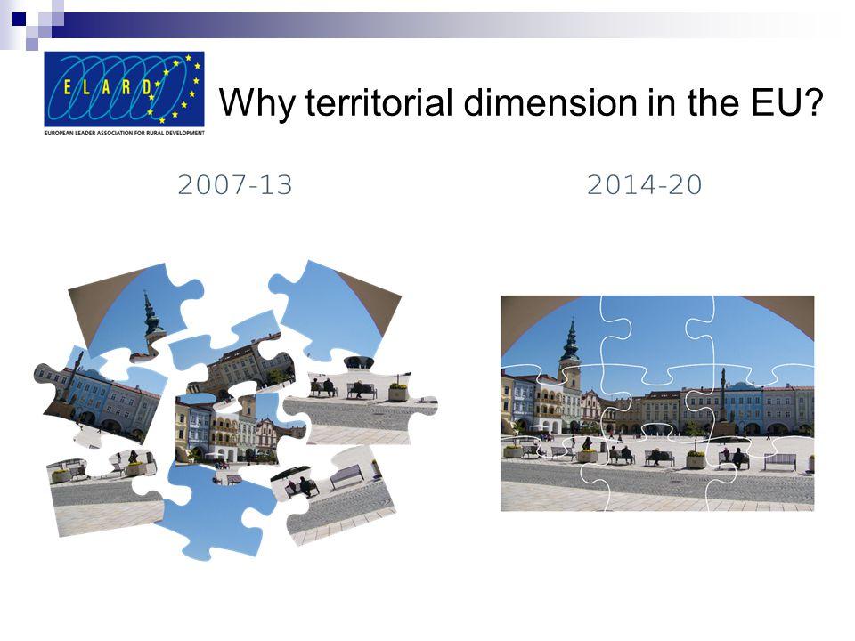 Why territorial dimension in the EU?