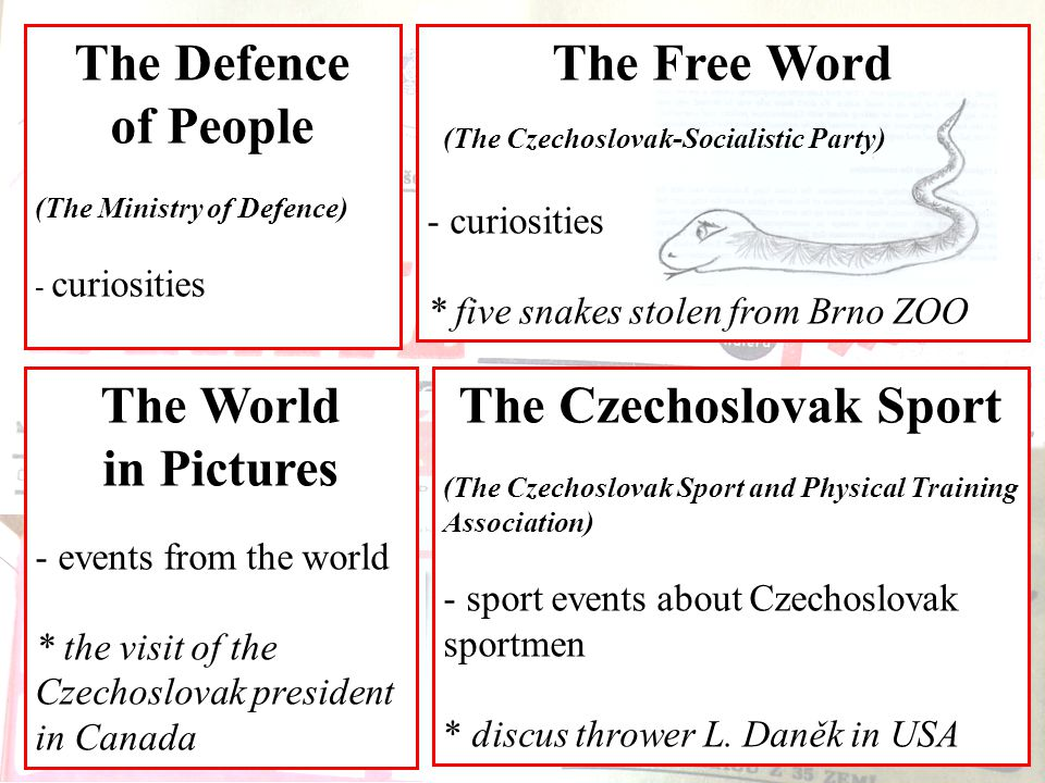 The Czechoslovak Sport (The Czechoslovak Sport and Physical Training Association) - sport events about Czechoslovak sportmen * discus thrower L.