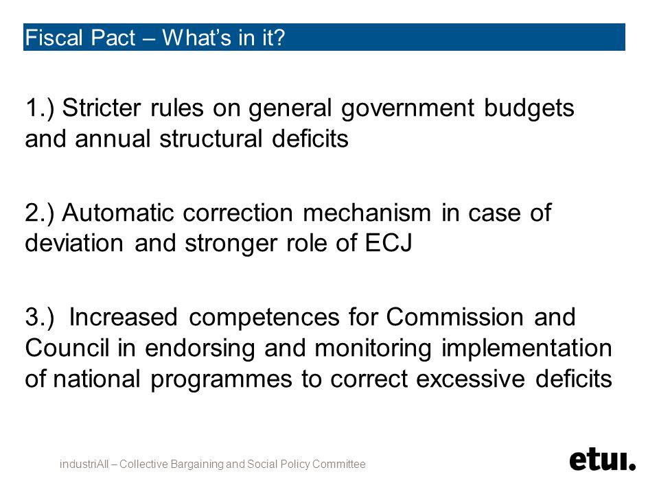 Fiscal Pact – What's in it.