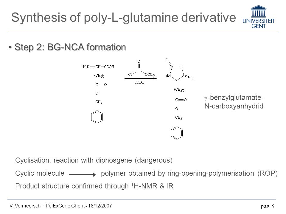 Step 2: BG-NCA formation Step 2: BG-NCA formation V.