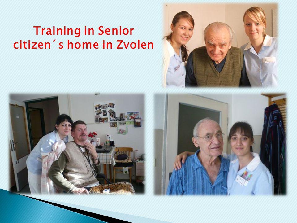 Training in Senior citizen´s home in Zvolen