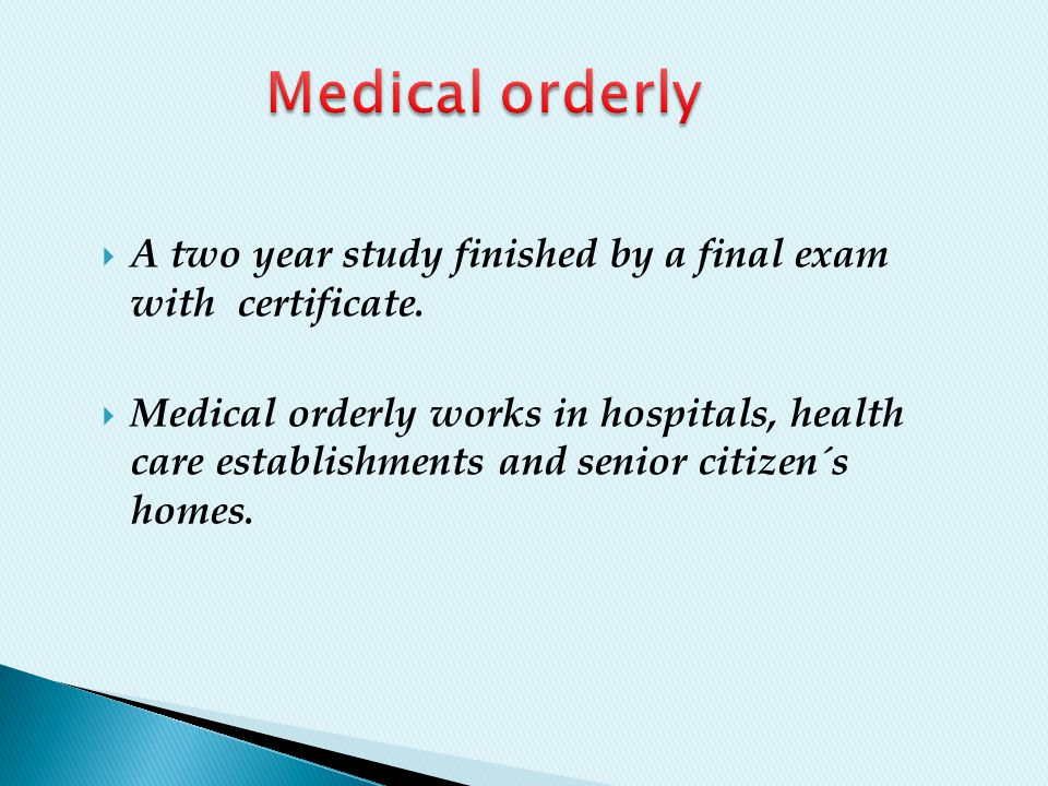  A two year study finished by a final exam with certificate.