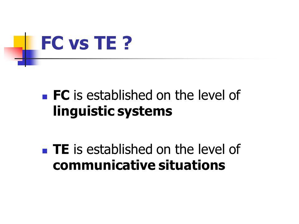FC vs TE .
