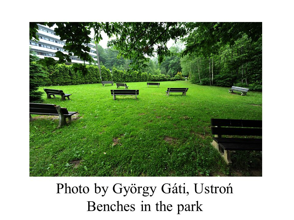 Photo by György Gáti, Ustroń Benches in the park