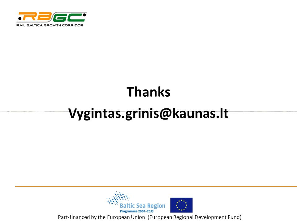 Part-financed by the European Union (European Regional Development Fund) Thanks