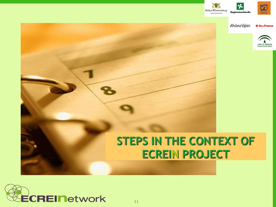 11 STEPS IN THE CONTEXT OF ECREIN PROJECT