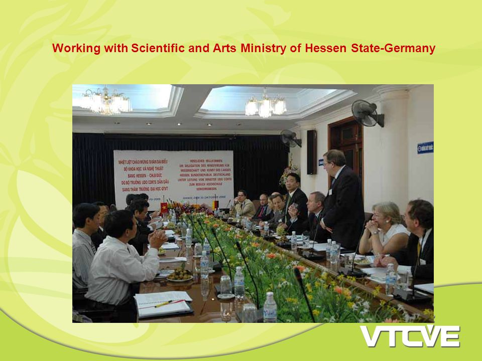 Working with Scientific and Arts Ministry of Hessen State-Germany