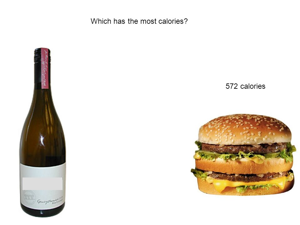 Which has the most calories 572 calories