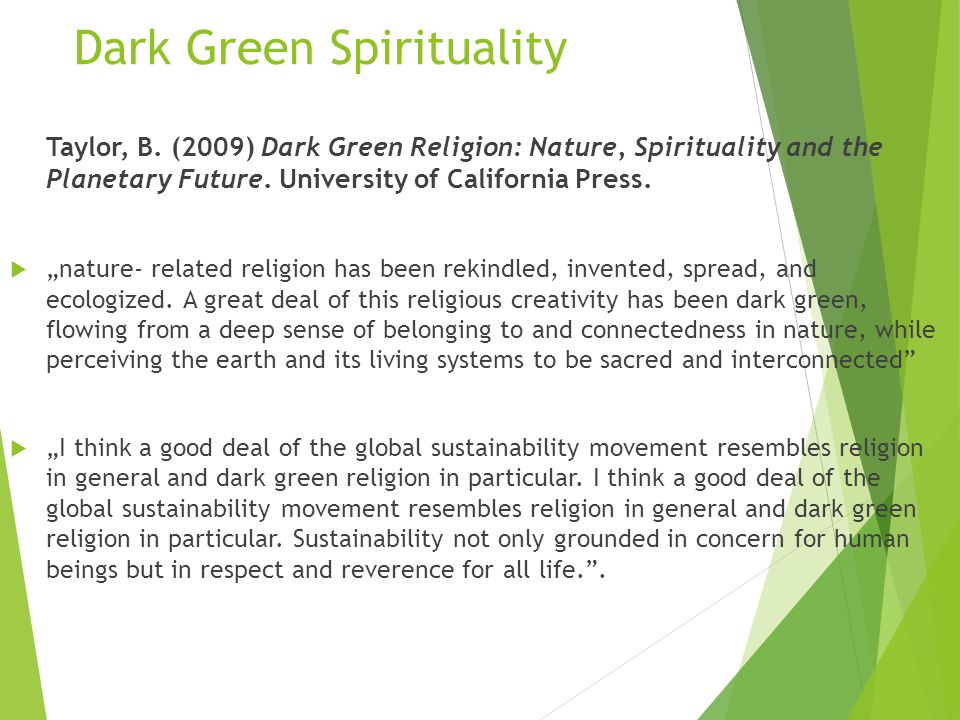 Dark Green Spirituality Taylor, B.