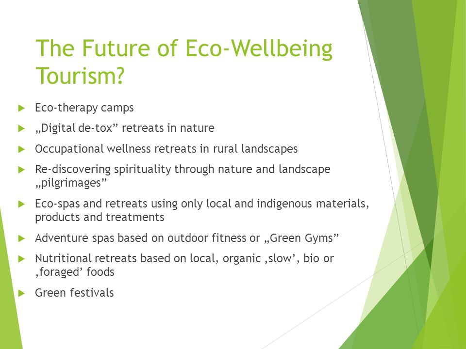 The Future of Eco-Wellbeing Tourism.