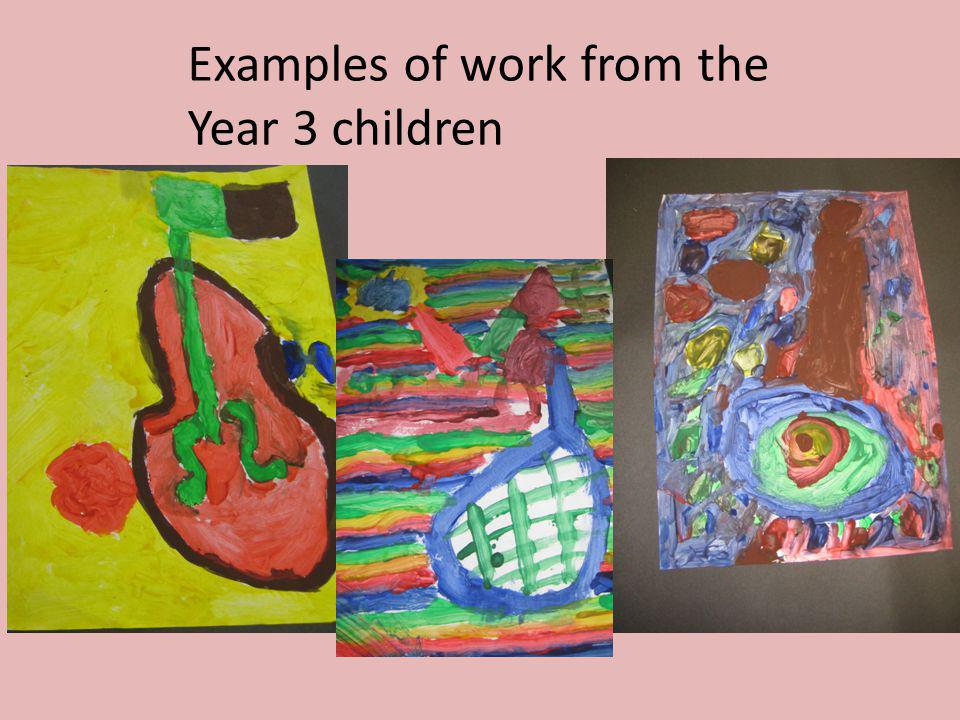 Examples of work from the Year 3 children