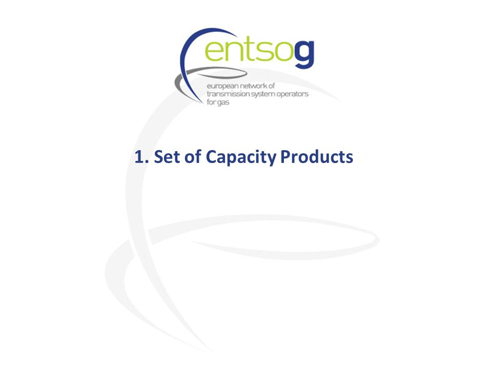 1. Set of Capacity Products