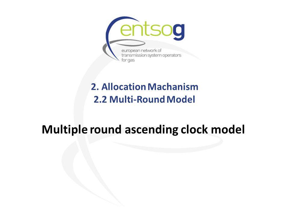2. Allocation Machanism 2.2 Multi-Round Model Multiple round ascending clock model