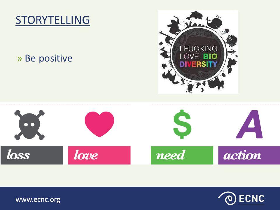 » Be positive STORYTELLING