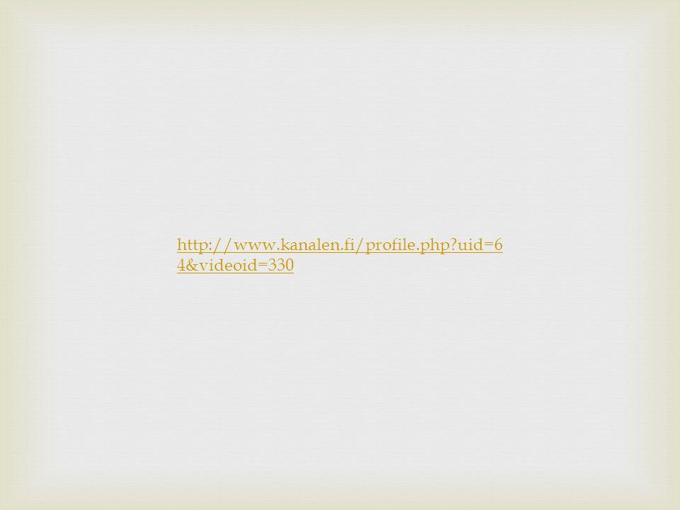 http://www.kanalen.fi/profile.php uid=6 4&videoid=330