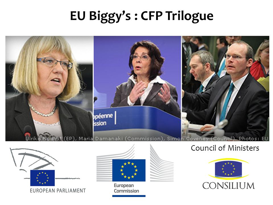 EU Biggy's : CFP Trilogue Parliament Commission Council of Ministers