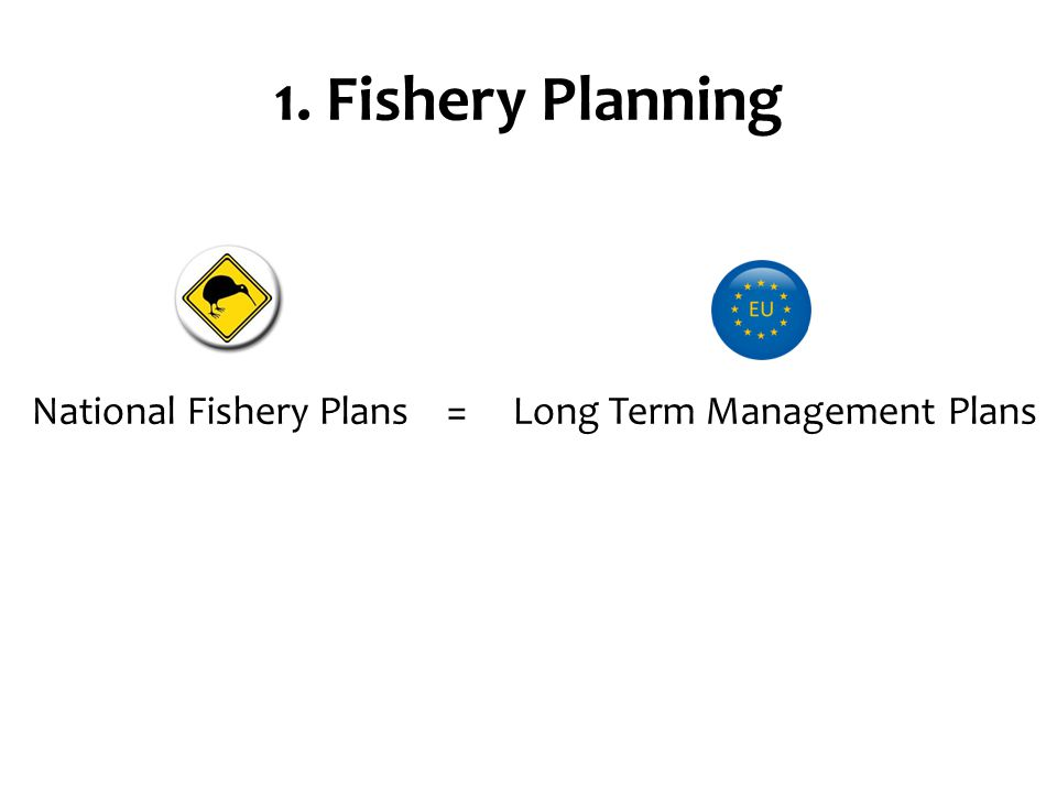 1. Fishery Planning National Fishery Plans = Long Term Management Plans