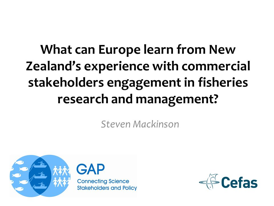 What can Europe learn from New Zealand's experience with commercial stakeholders engagement in fisheries research and management.