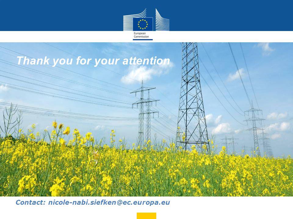 Thank you for your attention Contact: nicole-nabi.siefken@ec.europa.eu