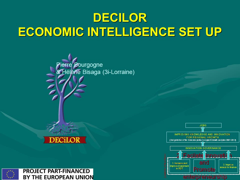 DECILOR ECONOMIC INTELLIGENCE SET UP Pierre Bourgogne & Hélène Bisaga (3i-Lorraine)