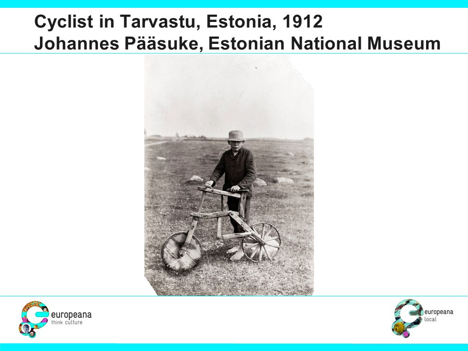 Cyclist in Tarvastu, Estonia, 1912 Johannes Pääsuke, Estonian National Museum