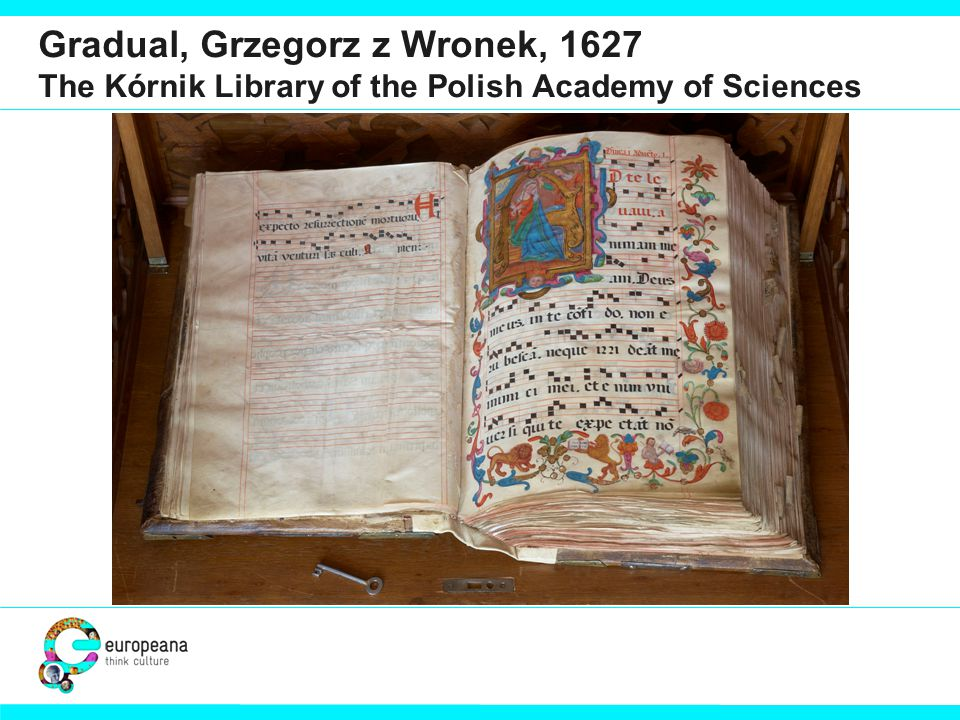 Gradual, Grzegorz z Wronek, 1627 The Kórnik Library of the Polish Academy of Sciences