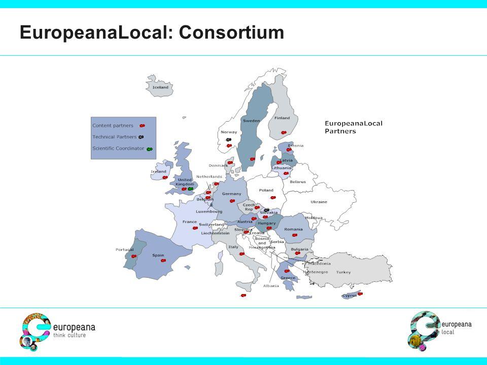 EuropeanaLocal: Consortium