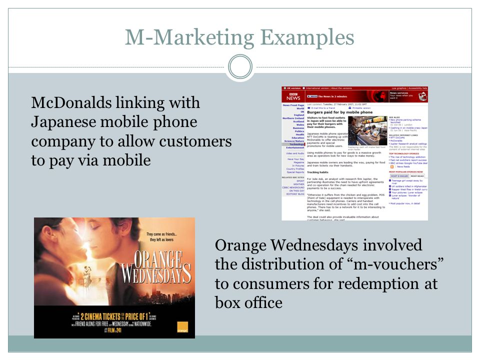 Technology and Marketing Technology has affected marketing in a number of ways.