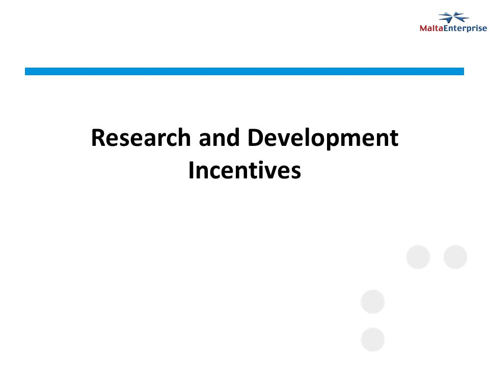 Research and Development Incentives