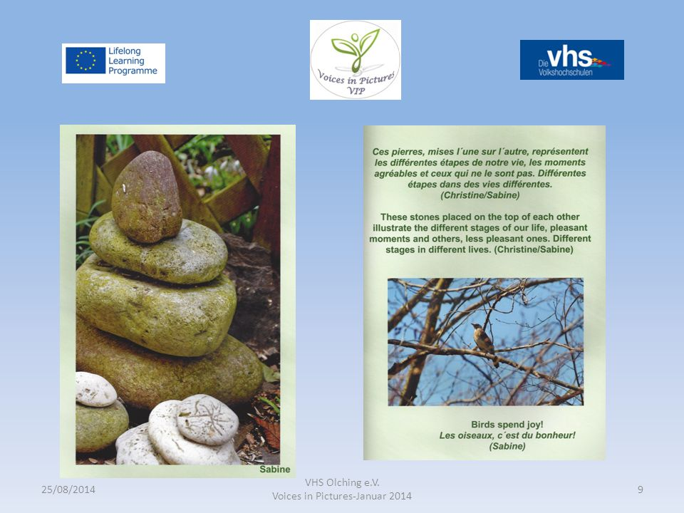 25/08/2014 VHS Olching e.V. Voices in Pictures-Januar 2014 9