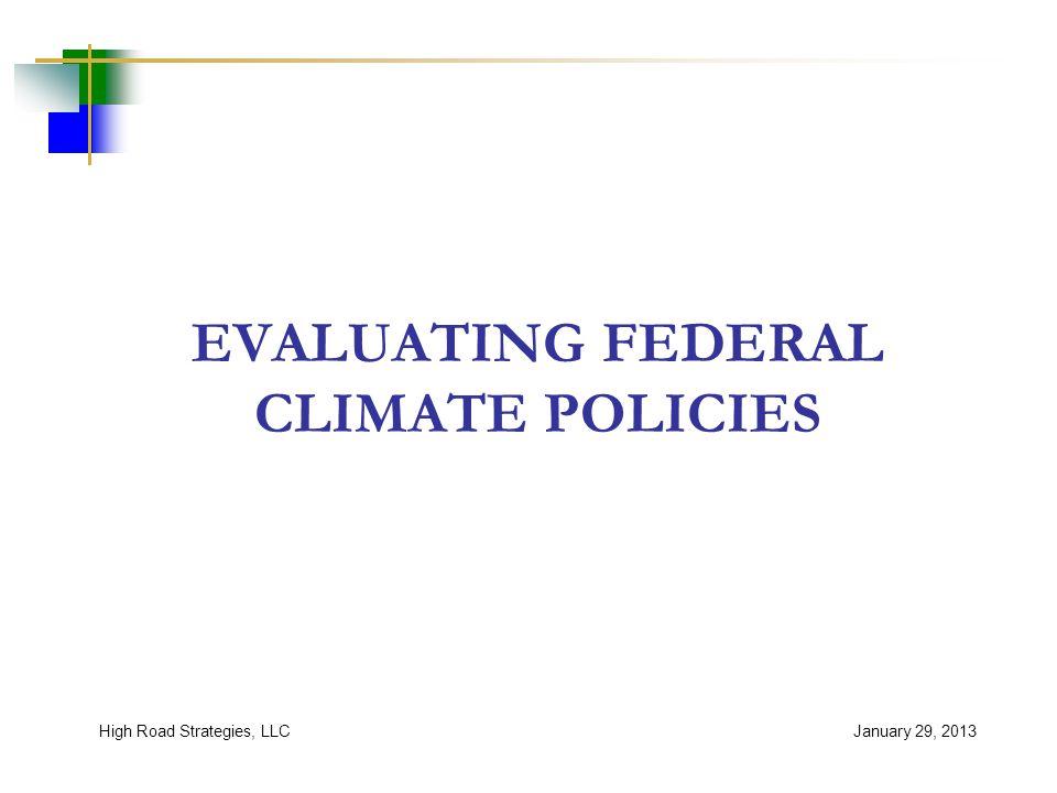 Range of Policies Considered January 29, 2013High Road Strategies, LLC