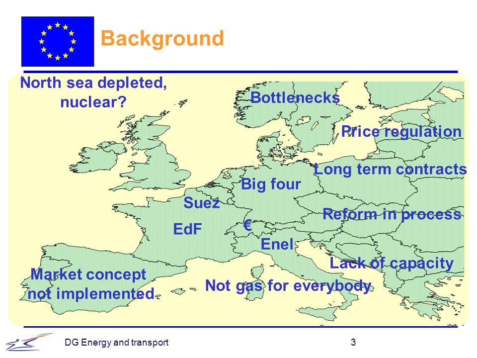 DG Energy and transport4 ETSO Generation adequacy forecast (UCTE, Nordel, UK, Ireland)