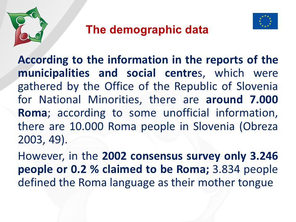 The socio-economic status of Roma in Slovenia is generally poor.
