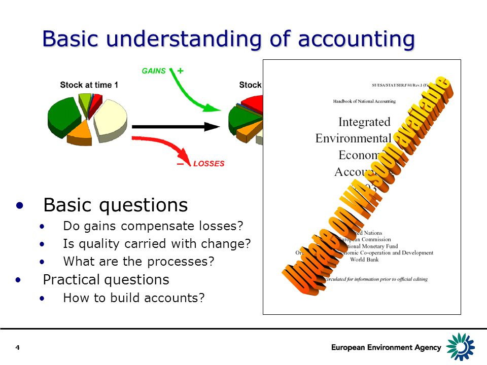 4 Basic understanding of accounting Basic questions Do gains compensate losses.