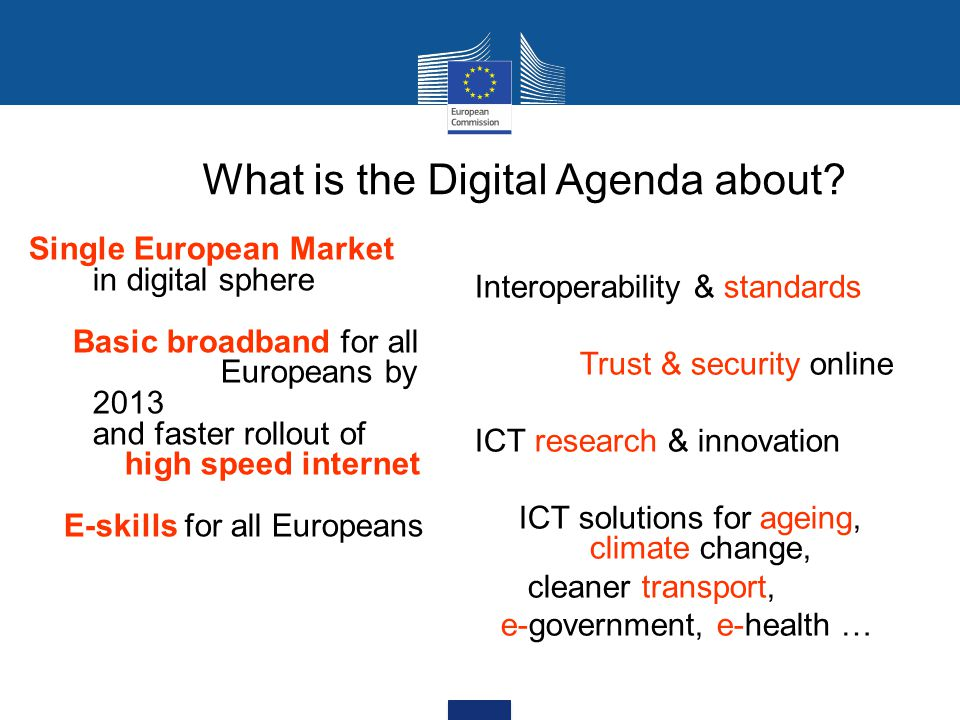 What is the Digital Agenda about.