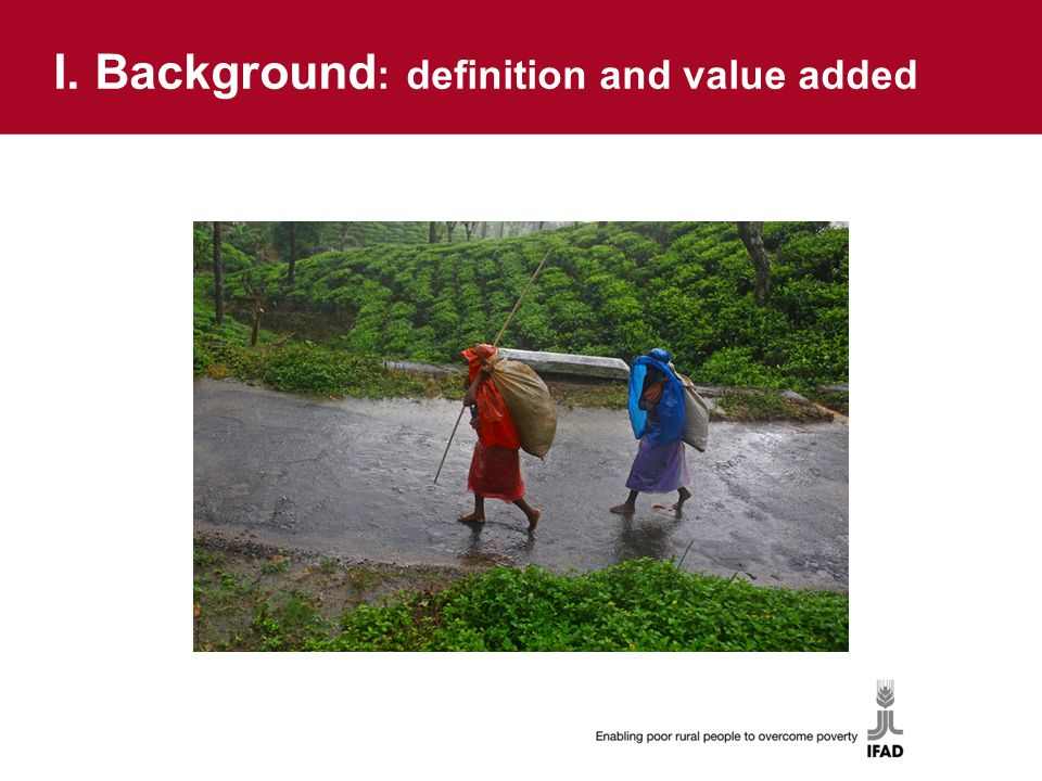 I. Background : definition and value added