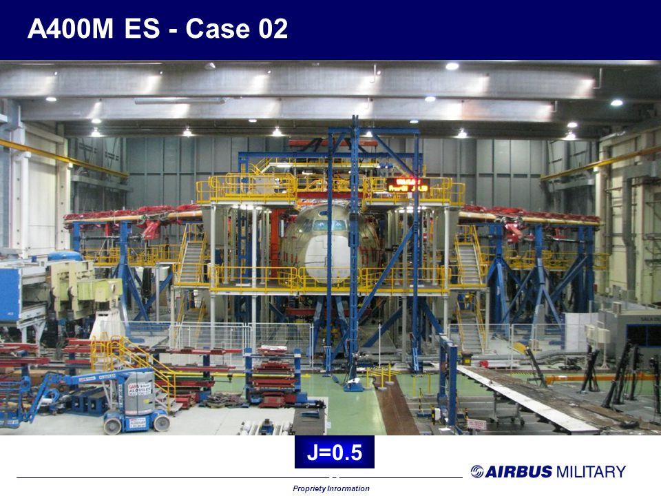 Propriety Information A400M ES - Case 02 J=0.6 0