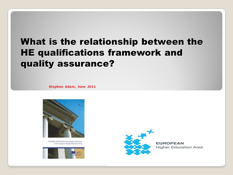 What is the relationship between the HE qualifications framework and quality assurance.