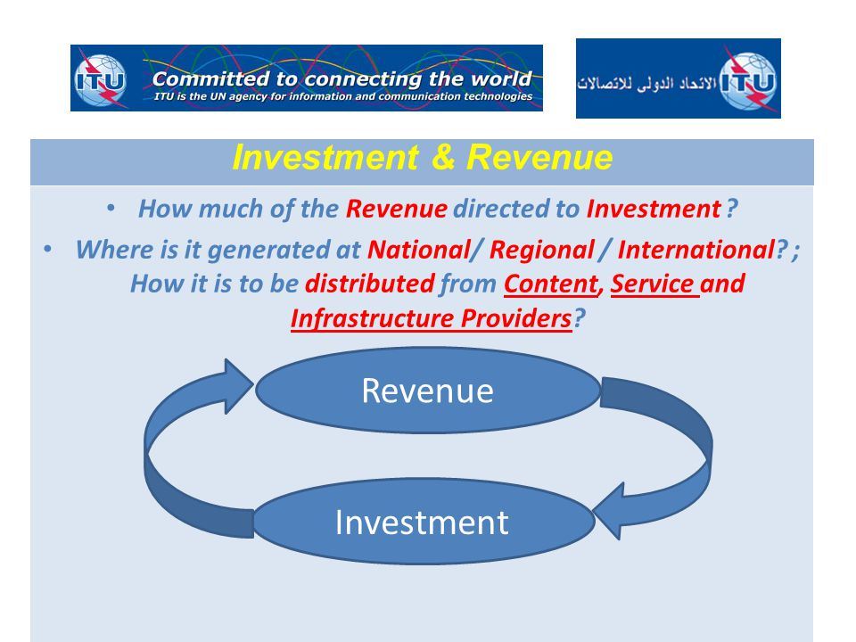 How much of the Revenue directed to Investment .