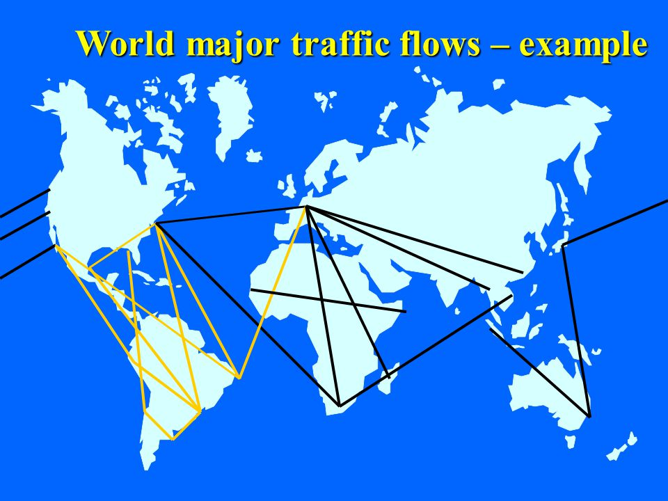 17 World major traffic flows – example