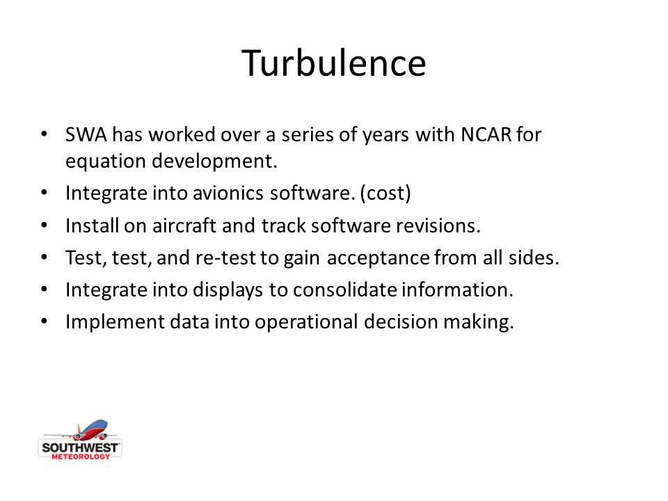 Turbulence SWA has worked over a series of years with NCAR for equation development.